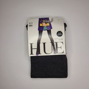 HUE Opaque Control Top Tights Graphite Heather